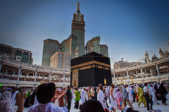 The Kabbah (azahar photography) Tags: people muslim islam prayer pray bluesky holly clocktower arab mecca umrah haj masjidilharam