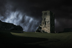 Sentinel (Anton Andreev) Tags: england sky tower castle dark ruins stormy lookout medieval age scarborough fortification defence sentinel