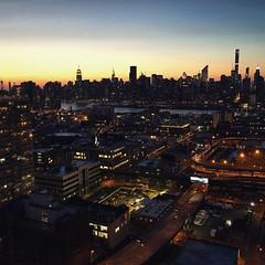 Chasing Rooftoops (Airicsson) Tags: street nyc sunset urban newyork rooftop skyline night manhattan longisland queens iphone camillelacroix