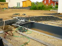 Bachlauf - Wasserbecken (Jrg Paul Kaspari) Tags: baustelle garten schiefer wasserbecken bachlauf pluwig