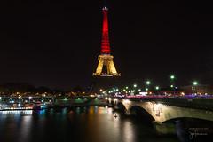Eiffel Tower and Pont d'Ina (josefrancisco.salgado) Tags: bridge paris france seine night ro river puente nikon europa europe ledefrance eiffeltower eiffel toureiffel torreeiffel nikkor sena lighttrail d4 seineriver pontdina 1424mmf28g
