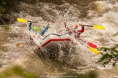 On the happy waves of mather river, Struma river (Petar Milev) Tags: blue summer white wet yellow river fun happy drops spring weekend extreme joy paddle wave rafting raft hollyday