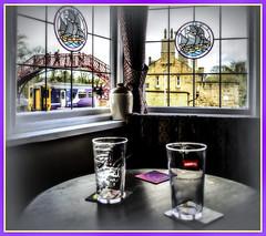 Boathouse Blues (Jim the Joker) Tags: train pub railway publichouse dmu northernrail theboathouse wylam class156 tynevalleyline