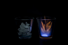 Heaven & Hell (Christian Ferrari) Tags: light hot cold ice fire hotcold macromonday