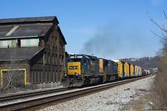CSX 8312 Versailles (callduckfarm) Tags: railroad train csx freighttrain emd sd402 emdsd402 standardcab emdlocomotive versaillespa westernpennsylvaniarailroads pittsburgharearailroads csx8312