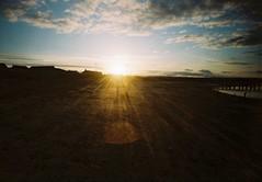 000033c (bigalid) Tags: sunset film beach 35mm toy plastic shore northumbria april amble 2016 c41 fixedfocus vuws superheadzwideandslim agfaphotovistaplus200