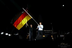 Paul McCartney waving German Flag #1 (NM_Pics) Tags: munich mnchen paul beatles olympicstadium mccartney paulmccartney olympiastadion oneonone