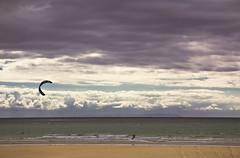 Playa en invierno  -  Beach in winter (ricardocarmonafdez) Tags: andaluca cdiz barbate playa beach invierno winter mar sea seascape orilla shoreline horizonte horizon cielo sky nubes clouds kitesurf kitesurfing arena sand color canon eos ricardocarmonafdez ngc