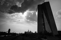 EZB black&white (Fabian W) Tags: blackandwhite bw skyline clouds canon frankfurt main mainhatten ecb ezb osthafen 7dmkii
