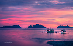 Corong Corong Sunset (pietkagab) Tags: longexposure trip travel sunset tourism nature boats island photography asia colours pentax philippines adventure k5 elnido palawan bangka pentaxk5ii pietkagab piotrgaborek