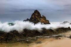 Camel Rock explosion || Bermagui (David Marriott - Sydney) Tags: sea seascape beach water rock sand au wave australia camel newsouthwales bermagui wallagalake