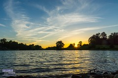 Lanier Point Park Sunset (The Suss-Man (Mike)) Tags: trees sunset sky lake reflection nature water clouds georgia rocks gainesville lanier lakelanier hallcounty thesussman sonyslta77 sussmanimaging lanierpointpark lanierpoint