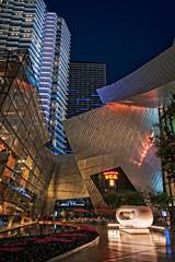Aria Resort Las Vegas (campmusa) Tags: buildings landscape spring nightlights nightscape lasvegas nevada casino nightshots fountains citycenter 2016 glassbuildings ariaresortandcasino toddenglishpub nikond750