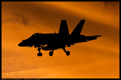 Hornet Sunset (jderden77) Tags: sunset airplane fighter aircraft aviation attack jet landing strike hornet f18 approach usnavy oceana mcdonnelldouglas navalaviation kntu vfa