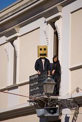 Danboard al balcone (Reflexionist) Tags: mask balcony balcone danboard mascheradicarnevale danboerdman