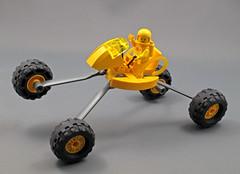 Leggy Rover (halfbeak) Tags: lego rover minifig moc classicspace spacerover suntron febrovery