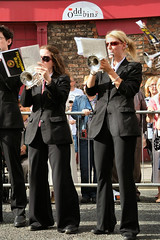 durham miners gala 2010 (bryan with a why) Tags: county red people music black boys pits drums gold hotel durham dancing band ken police pit tony cricket bands strike banners brass gala racecourse miner livingston benn scots 2010 miners colliery bevan craghead