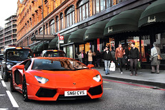 Harrods Cruising. (Alex Penfold) Tags: auto camera orange london cars alex sports car sport mobile canon photography eos photo cool flickr image awesome flash picture super spot harrods knightsbridge exotic photograph lp spotted hyper 700 lamborghini supercar cvs spotting exotica sportscar 2012 sportscars supercars argos lambo penfold spotter hypercar 60d sn61 hypercars aventador lp700 alexpenfold sn61cvs