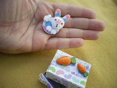 matchbox-decorada-pascoa (Veluarts Atelie) Tags: de felt pscoa caixa feltro coelho matchbox bichinhos ms fsforos fieltro decorada