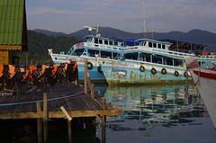 _K5_6647 (canomike) Tags: sunset elephant reflection thailand island pier boat fishing asia southeastasia gulf head goldenhour fishingvillage gulfofthailand bangbao