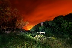 la silla (Cani Mancebo) Tags: red españa verde green rouge spain rojo colours nocturnal vert colores explore murcia nocturna lamanga cartagena largaexposición calblanque explored canimancebo longesposuretime