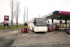 1st Choice Transport,Llanelli. (Woolfie Hills) Tags: school volvo coach 1st llanelli national express contract choice texaco parc luxury b12 trostre fuelling joncheere