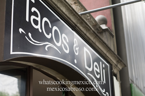"Tacos and deli<br /><span style=""font-size:0.8em;"">Read more about it here: <a href=""http://whatscookingmexico.com/2012/02/13/the-anatomy-of-a-taco/"" rel=""nofollow"">whatscookingmexico.com/2012/02/13/the-anatomy-of-a-taco/</a></span> • <a style=""font-size:0.8em;"" href=""https://www.flickr.com/photos/7515640@N06/6862931725/"" target=""_blank"">View on Flickr</a>"