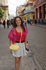 Obispo Street (arco iris by Anastasia Neto) Tags: travel fashion arcoiris bag top havana cuba skirt flats polkadots jacket lorenzo accessories vest reserved zara kenzo lindex lookoftheday anastasianeto
