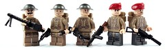 The men from the land of Scones, Crumpets and Tea. (it) Tags: mod gun lego mark 5 five brodie wwi wwii inspired v prototype ww2 soldiers british lit ww1 sten beret mk browning brickarms fliplit legtayor