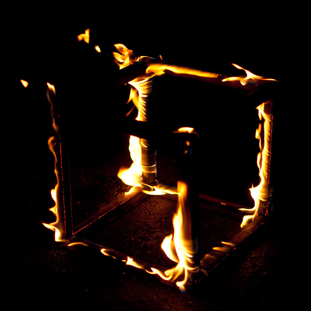 Burning Cube of Fire