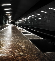Berlin subway 14/52 (Skley) Tags: berlin subway photography photo vanishingpoint foto fotografie creative platform picture commons cc creativecommons ubahn bild depth licence week14 2012 bahnsteig psychodelic kreativ tiefe lizenz 1452 berlinsubway psychodelisch skley week14theme 522012 52weeksthe2012edition weekofapril1 dennisskley