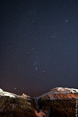 Chilly Stars. (Ollie Smalley Photography (OSP)) Tags: blue sky orange mountains alps building tree green car rock night canon stars french photography haze oliver bright peak cable ollie mf f28 orions smalley 14mm smalle samyang 400d belth Astrometrydotnet:status=solved Astrometrydotnet:version=14400 oliver6894 Astrometrydotnet:id=alpha20120294097686