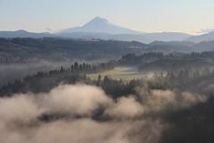 It's time I was on my way (bennettjohnson) Tags: mist oregon sunrise sandy mount mthood hood
