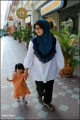 Walk Slowly & Carefully Princess (tamahaji) Tags: up child princess little walk father daughter mother like chow penang hurry jalan slowly rasta sayang exhausted anak safiyya dhiya perlahanlahan