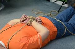 DSC_0148 (jakewolf21) Tags: work boots bondage rope jeans tied dakota hogtied