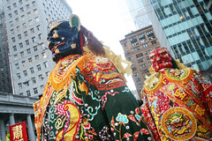 Chinese Gods on Stilts (shaire productions) Tags: sf sanfrancisco street city portrait people urban streets color heritage festive walking asian evening photo colorful image candid chinese culture chinesenewyear parade celebration event photograph american cny metropolis annual tradition multicultural festivities lunarnewyear cultural imagery chinesenewyearparade panasian sfchinesenewyearparade sanfranciscochinesenewyearparade