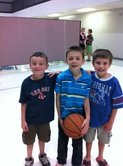 Three of the four kids baptized - William, Guy, Ryland