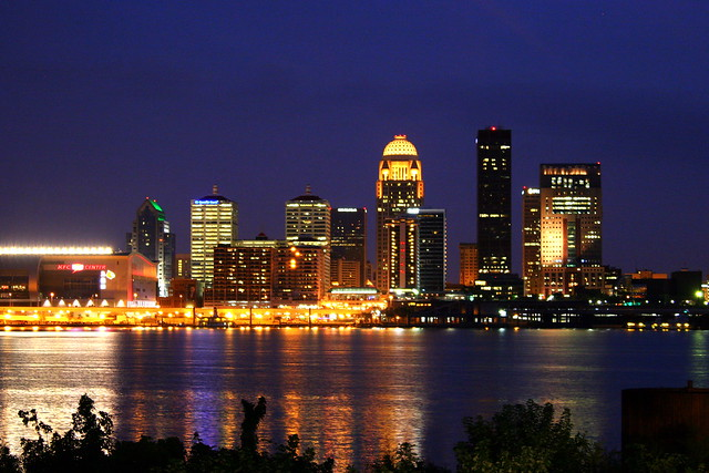 Downtown Louisville at Night