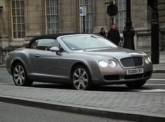 Bentley Continental GTC (kenjonbro) Tags: uk london grey trafalgarsquare continental convertible cabrio 2009 bentley gtc worldcars kenjonbro fujihs10 eu09cky