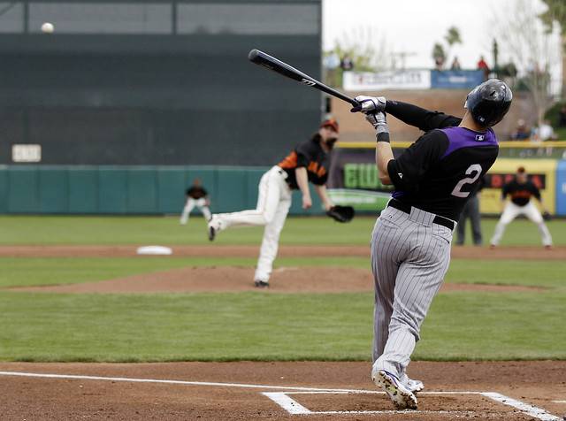 Rockies vs  Gigantes Spring Training