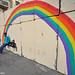 Rainbow on wall of Interior Ministry