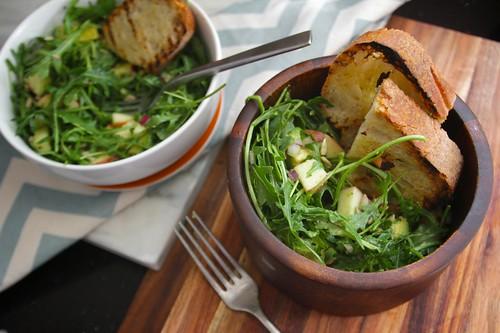 apple avocado arugula salad