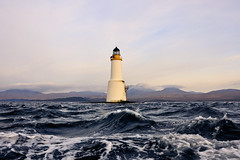Skervuile Lighthouse and The Paps of Jura, The Sound of Jura (iancowe) Tags: sea lighthouse ferry scotland day waves cloudy scottish stevenson jura sound papsofjura tayvallich northernlighthouseboard nlb craighouse soundofjura lighthousetrek wbnawgbsct skervuile