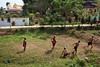Football - Bago, Myanmar (Maciej Dakowicz) Tags: city sea sport football asia southeastasia action buddha burma monk buddhism match myanmar recliningbuddha