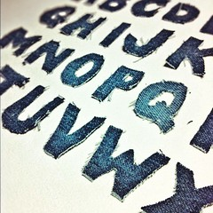 Denim type (roche1300) Tags: california art illustration square typography photography design la stencil hand handmade fineart jeans cardboard squareformat cutting type denim material bluejeans rise levis papercut levisjeans iphoneography
