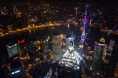SWFC @ Night - Image 64 (www.bazpics.com) Tags: china city tower glass skyline skyscraper radio tv shanghai centre area pearl tall oriental pudong financial jinmao lujiazui swfc