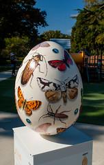 Butterflys and Bugs (Jocey K) Tags: autumn trees newzealand christchurch sky plants art painting shadows egg bugs beatles butterflys giantegg botanicgradens whittakersbigeasteregghunt