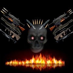 kill me (drouet.nicolas) Tags: dead fire kill mort ak feu tete arme