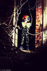 clown (TheSilviAgreda) Tags: dark balloons children scary clown horns longisland littlegirl scaryclown darkphotography rockaways forttilden scarychildren creepychildren darkbeauty creepyphotos scaryphotography
