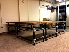 U-Shaped Butcher Block Desk